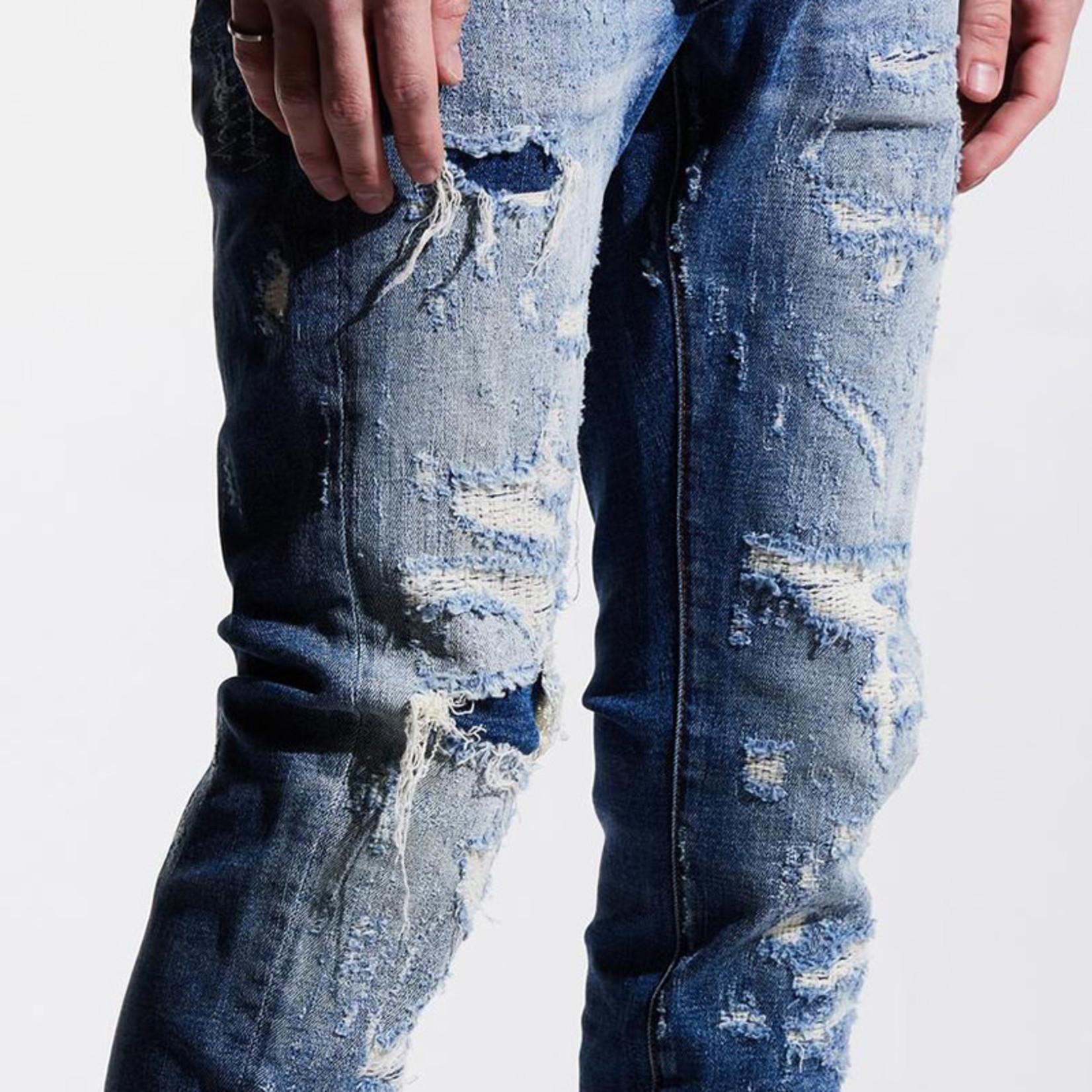 Embellish NYC Embellish : Distressed Pilot Denim Pants