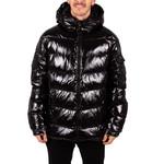 Ucxx UCXX : Shiny All Black Puffer Winter Coat