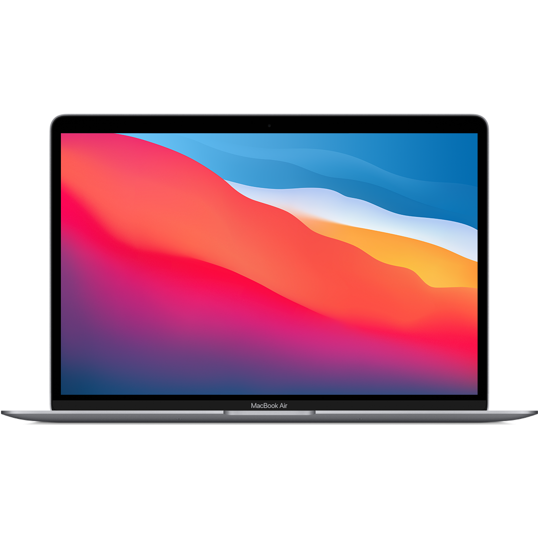 Apple 13-inch MacBook Air-Space Gray Apple M1 chip with 8‑core CPU and 7‑core GPU//16-core Neural Engine//8GB unified memory//256GB SSD storage