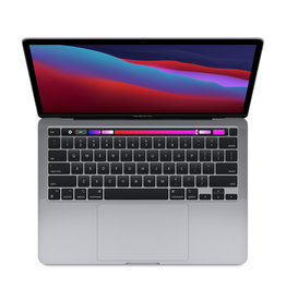 Apple 13-inch MacBook Pro with Touch Bar- Space Gray:  Apple M1 chip with 8-core CPU and 8-core GPU, 256GB - Space Gray. //8GB unified memory//256GB SSD storage