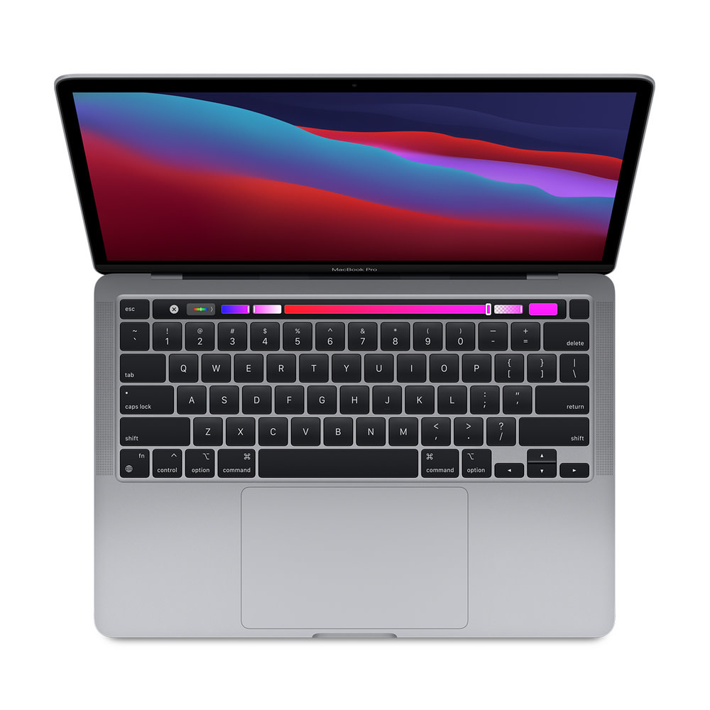 Apple 13-inch MacBook Pro with Touch Bar- Space Gray: Apple M1 chip with 8-core CPU and 8-core GPU, 512GB - Space Gray 8GB unified memory