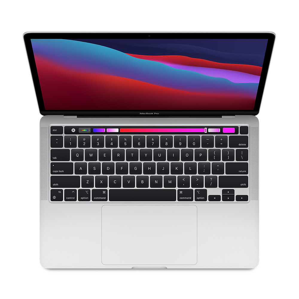 Apple 13-inch MacBook Pro- Silver: Apple M1 chip with 8‑core CPU and 8‑core GPU, 256GB SSD - Silver