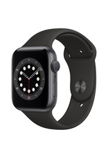 Apple Apple Watch Series 6 GPS, 44mm Space Gray Aluminum Case with Black Sport Band - Regular