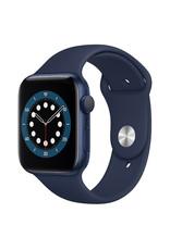 Apple Apple Watch Series 6 GPS, 44mm Blue Aluminum Case with Deep Navy Sport Band - Regular