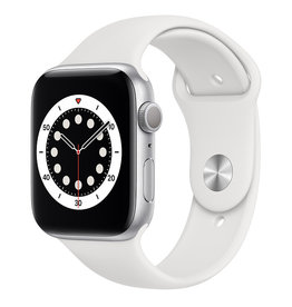 Apple Apple Watch Series 6 GPS, 40mm Silver Aluminum Case with White Sport Band