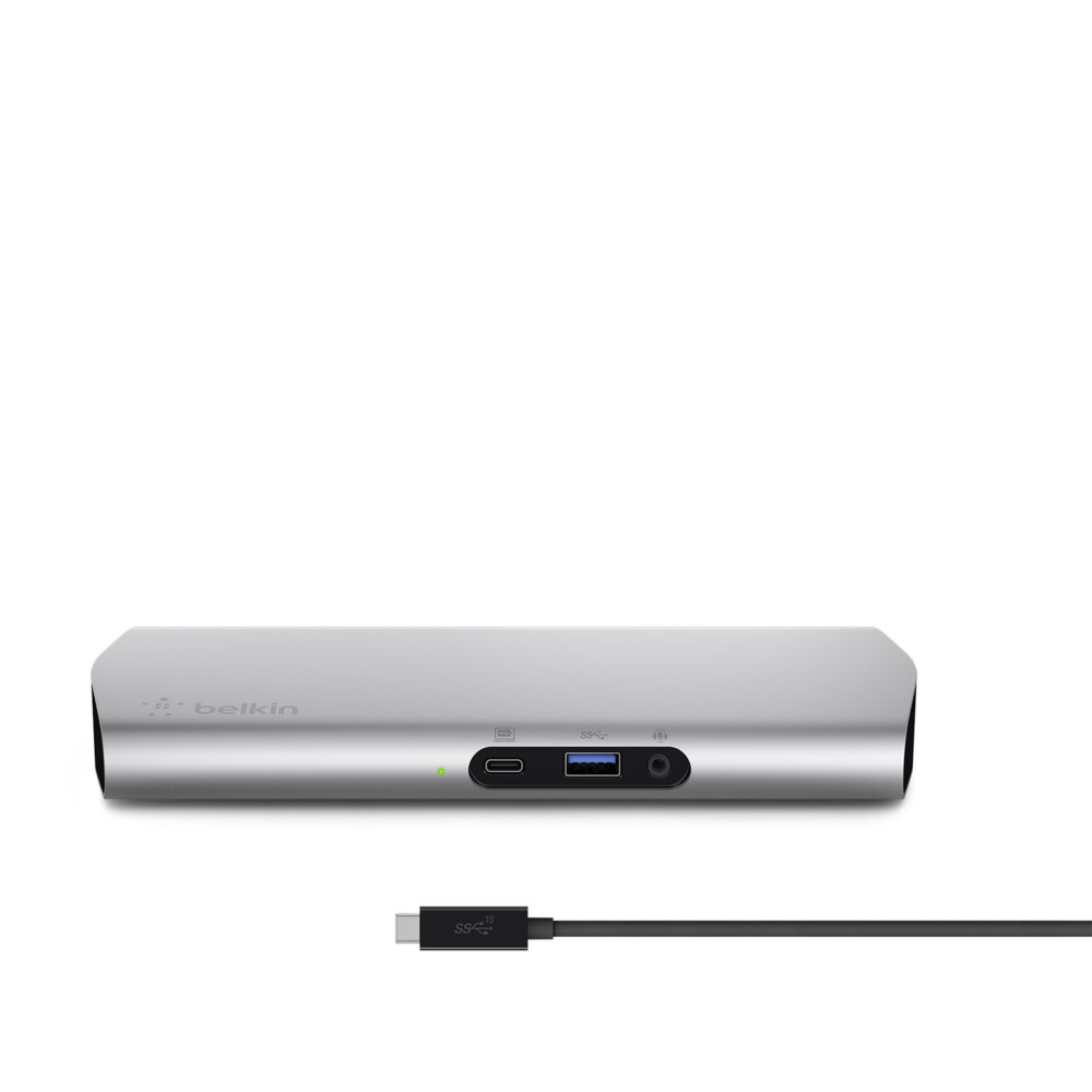 Belkin Thunderbolt 3 Belkin USB-C™ Express Dock 3.1 HD for Notebook - 60 W - USB Type C - 5 x USB Ports - Network (RJ-45) - HDMI - Audio Line In - Audio Line Out - Microphone - Docking