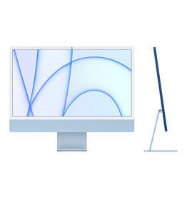 Apple 24-inch iMac with Retina 4.5K display: Apple M1 chip with 8‑core CPU and 8‑core GPU, 256GB - Blue