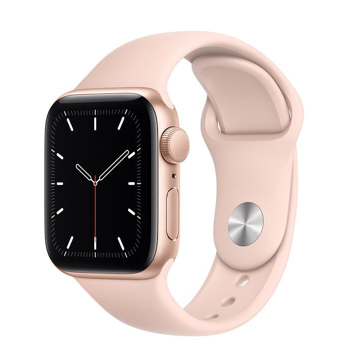 Apple Apple Watch SE GPS, 40mm Gold Aluminum Case with Pink Sand Sport Band - Regular