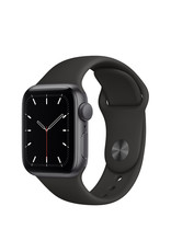 Apple Apple Watch SE GPS, 40mm Space Gray Aluminum Case with Black Sport Band - Regular