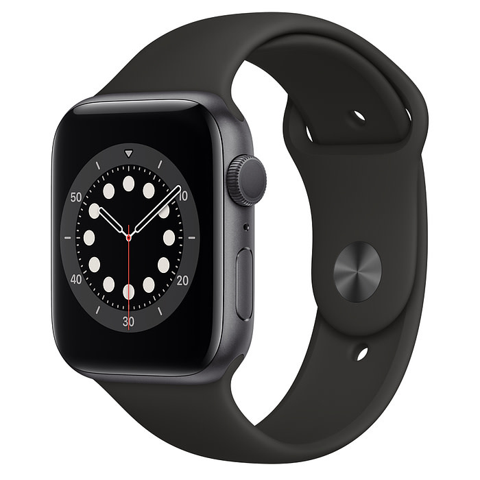 Apple Apple Watch SE GPS, 44mm Space Gray Aluminum Case with Black Sport Band