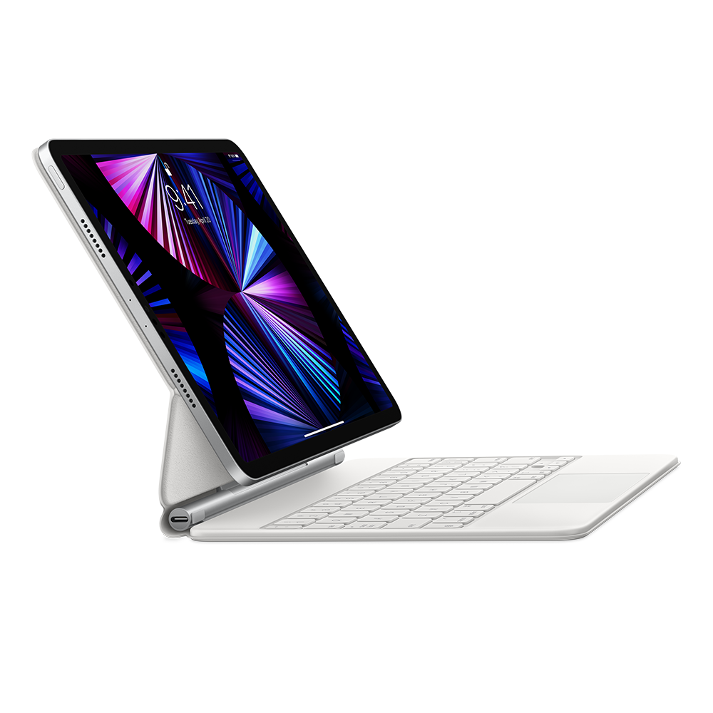 Apple Magic Keyboard for iPad Pro 11-inch (3rd generation) and iPad Air (4th generation) - US English - White