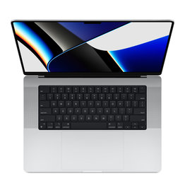Apple 16-inch MacBook Pro: Apple M1 Pro chip with 10‑core CPU and 16‑core GPU, 512GB SSD - Silver