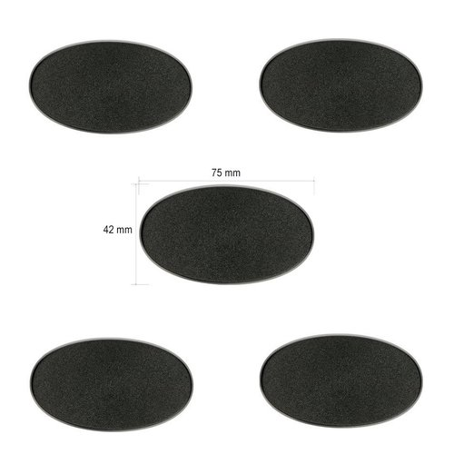 75x42mm Oval Bases