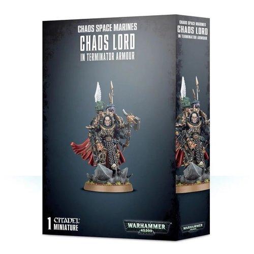 Warhammer 40k Chaos Lord in Terminator Armor