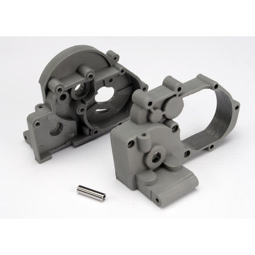 Traxxas 3691a Gearbox Halves w/ Idler Shaft (grey)