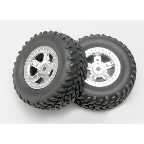 Traxxas 7073 Traxxas Tires and wheels, assembled, glued