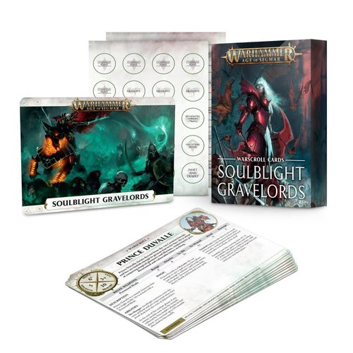 Age of Sigmar Soulblight Gravelords Warscroll Cards