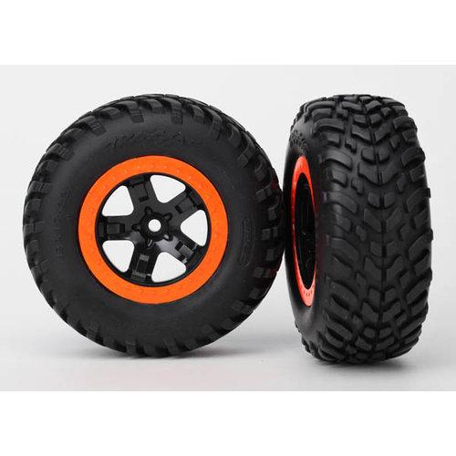 5864 Tire and Wheel glued SCT Orange