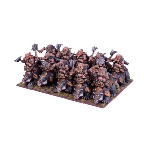 Mantic Dwarf Brock Riders Regiment