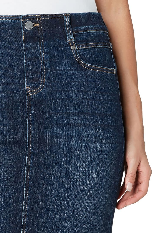 Gia Pull-On Cut Hem Pencil Skirt
