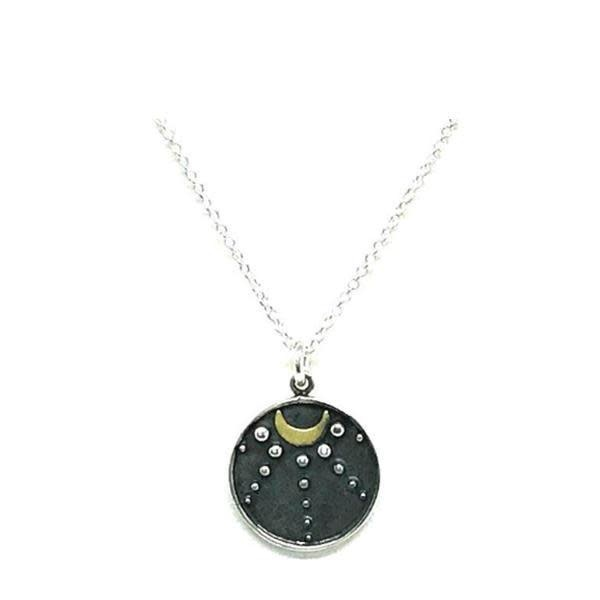 Crescent Moon Night Sky Necklace