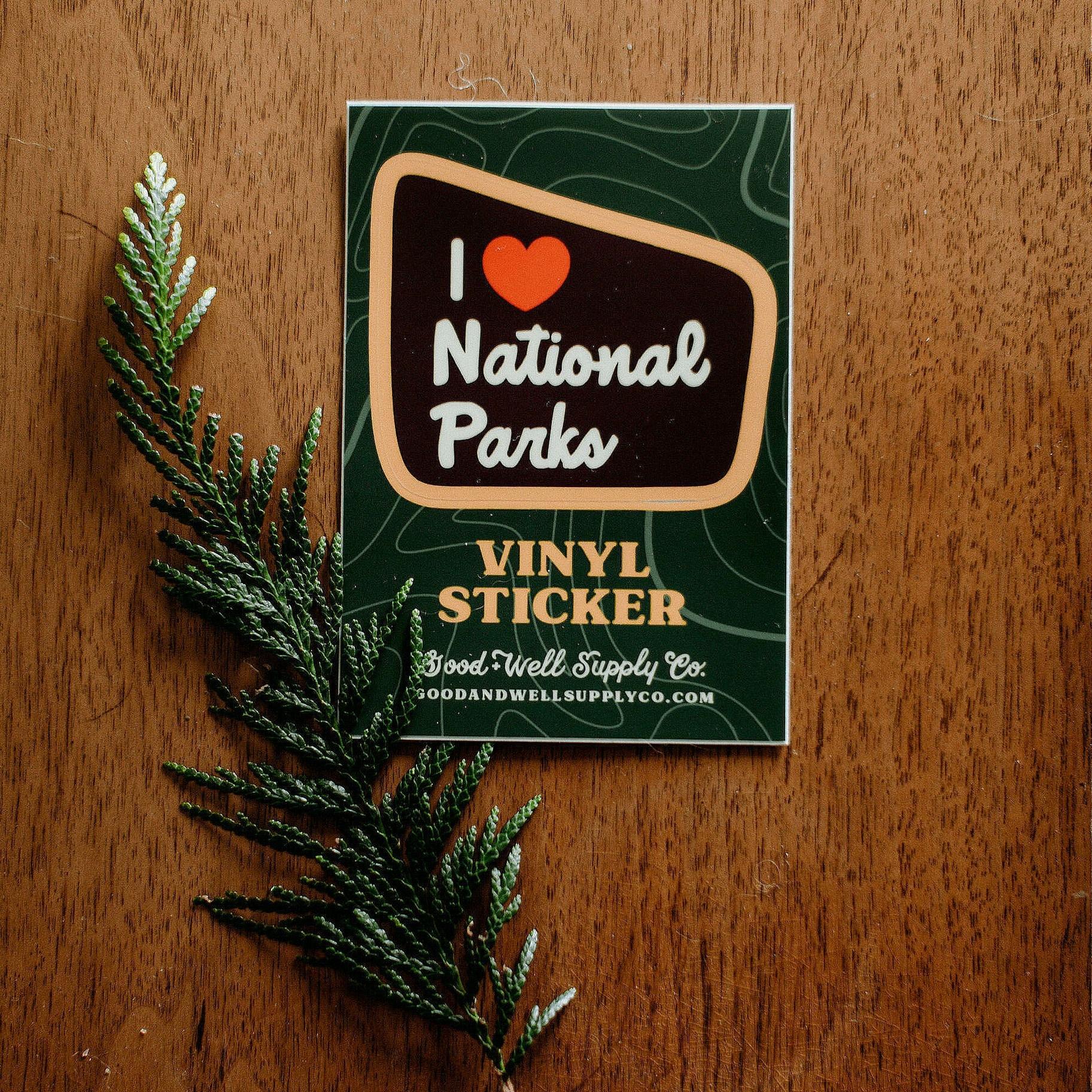 I Heart Parks Vinyl Sticker