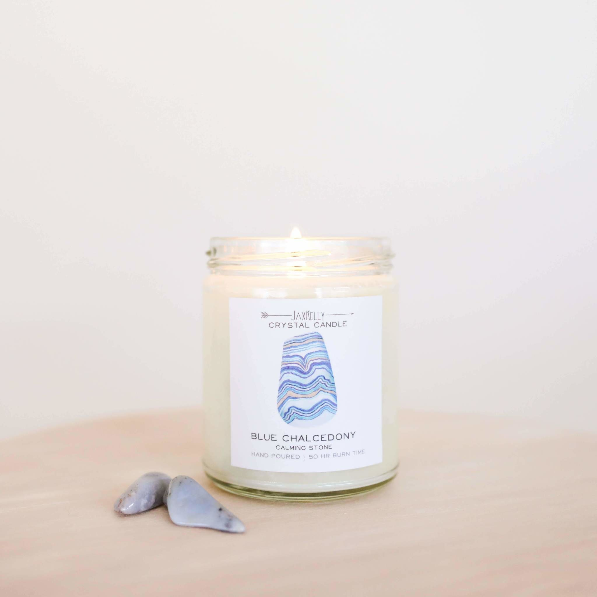 Blue Chalcedony Candle - Calming