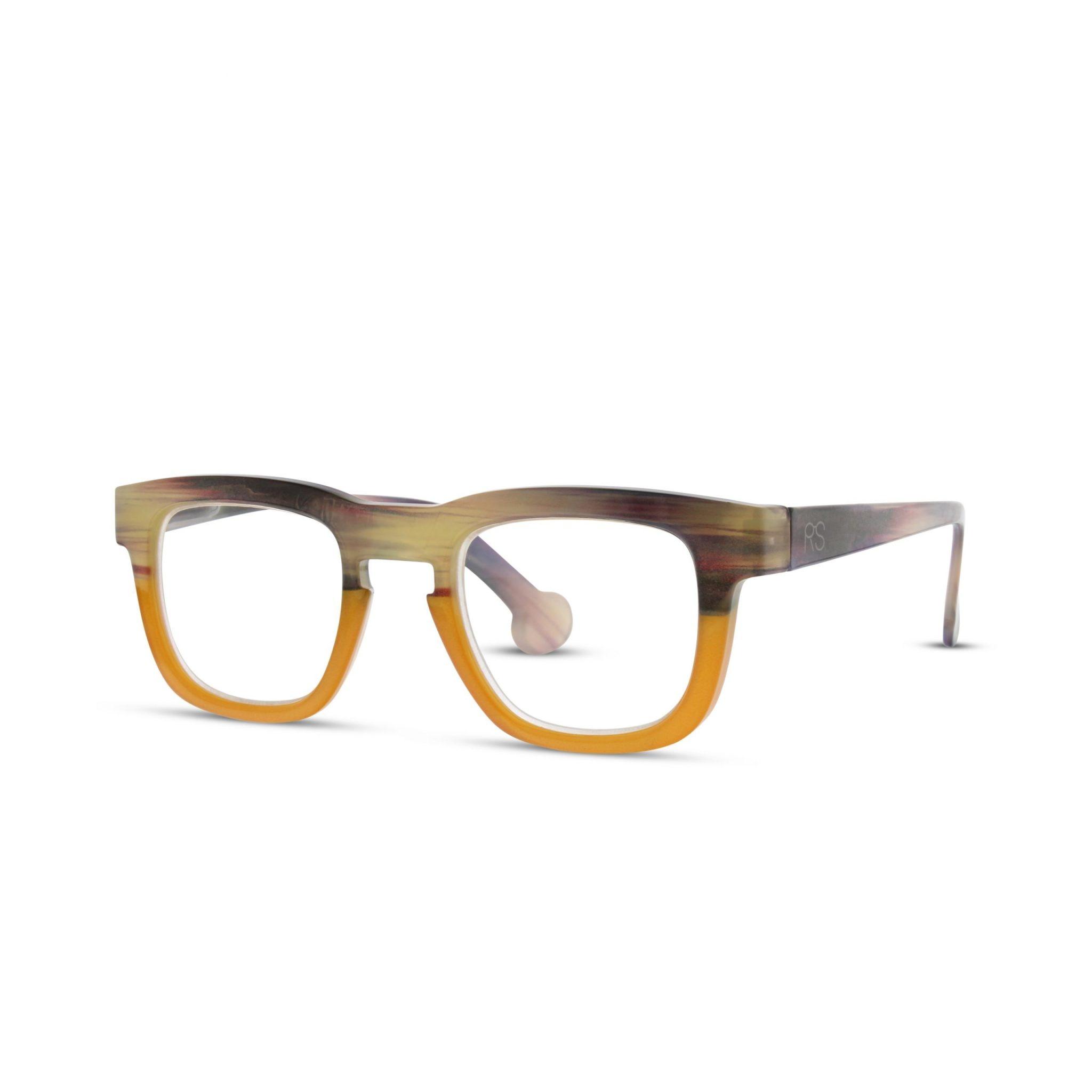 Wood Grain Brown/Orange Frame Reader