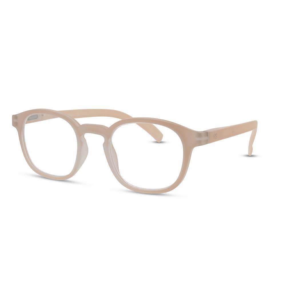 Beige Frame Reading Glasses