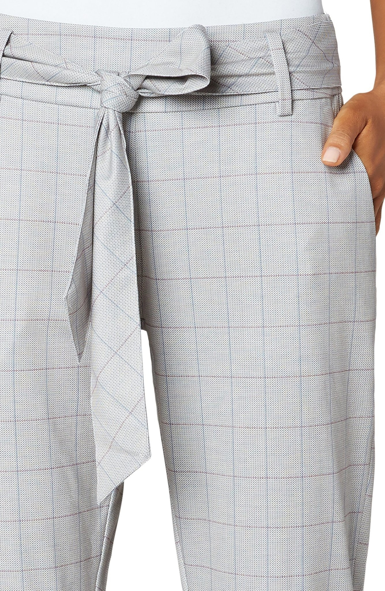 Side Zip Trouser WIth Self Belt