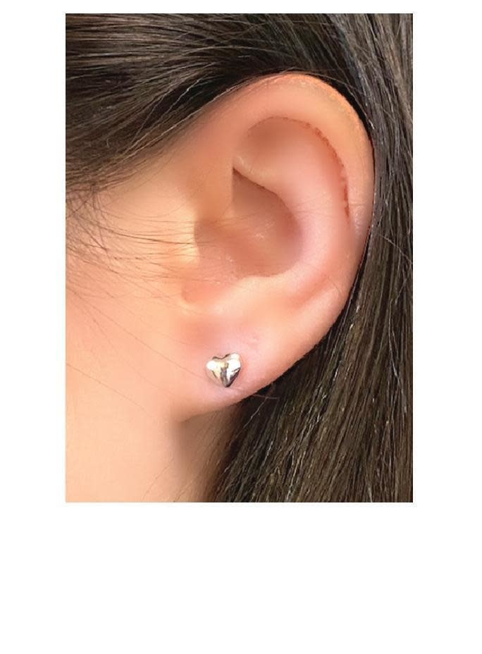 Sterling Heart Stud Earring