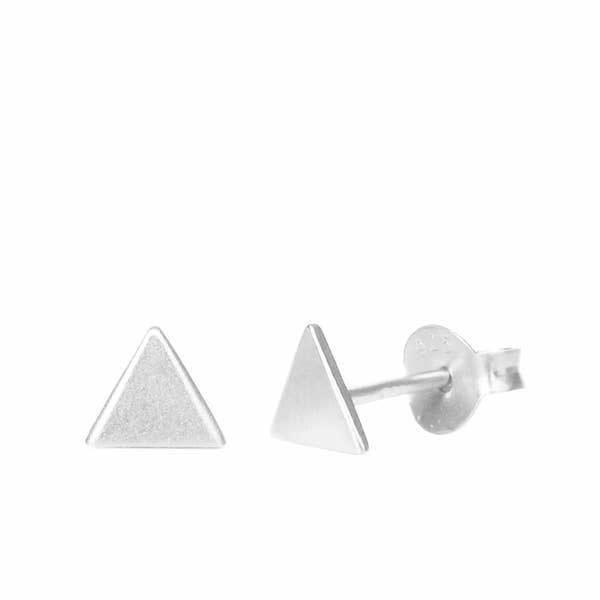 Silver Triangle Stud