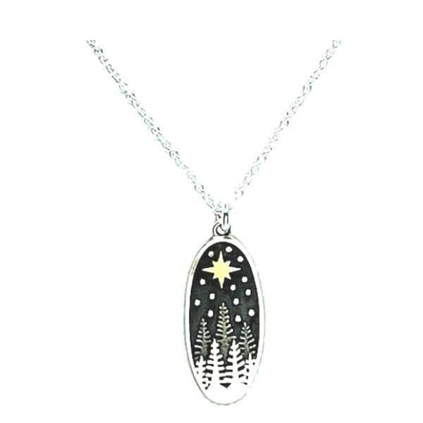 Pine Trees North Star Necklace