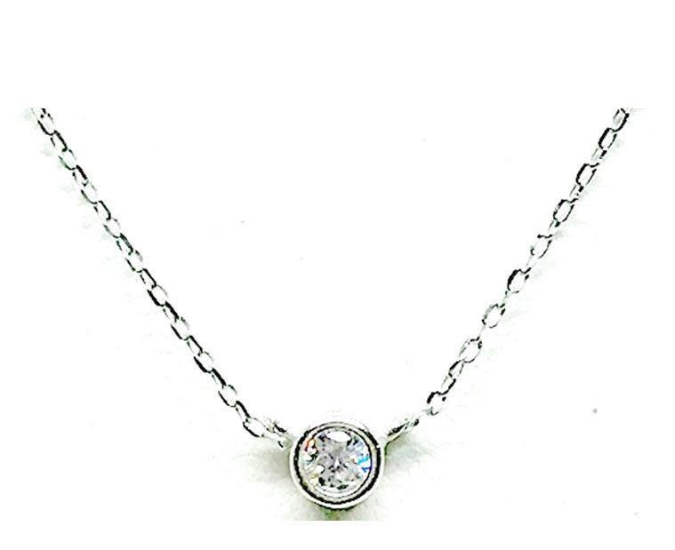Crystal Bezel Necklace