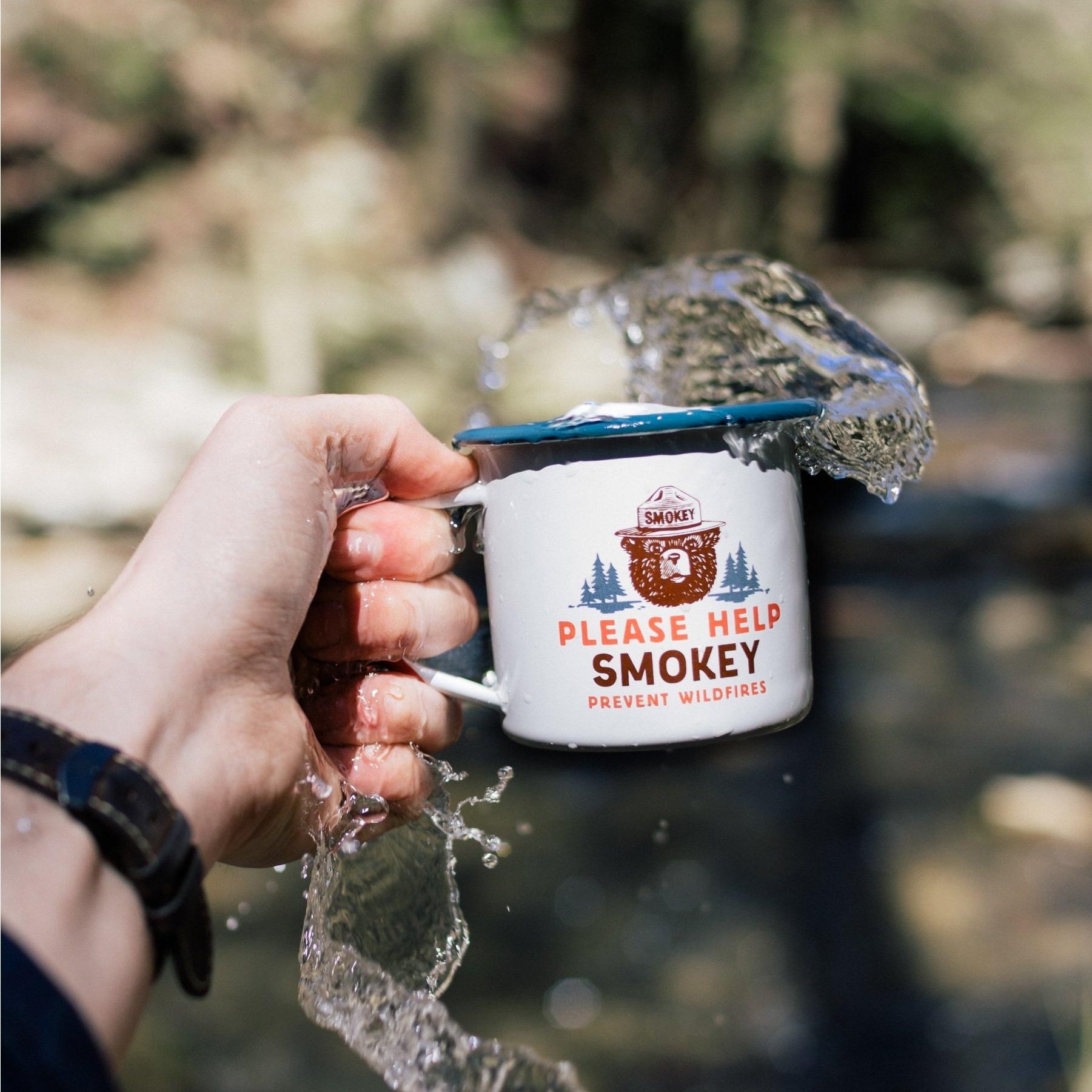 Smokey Bear Enamelwear Mug