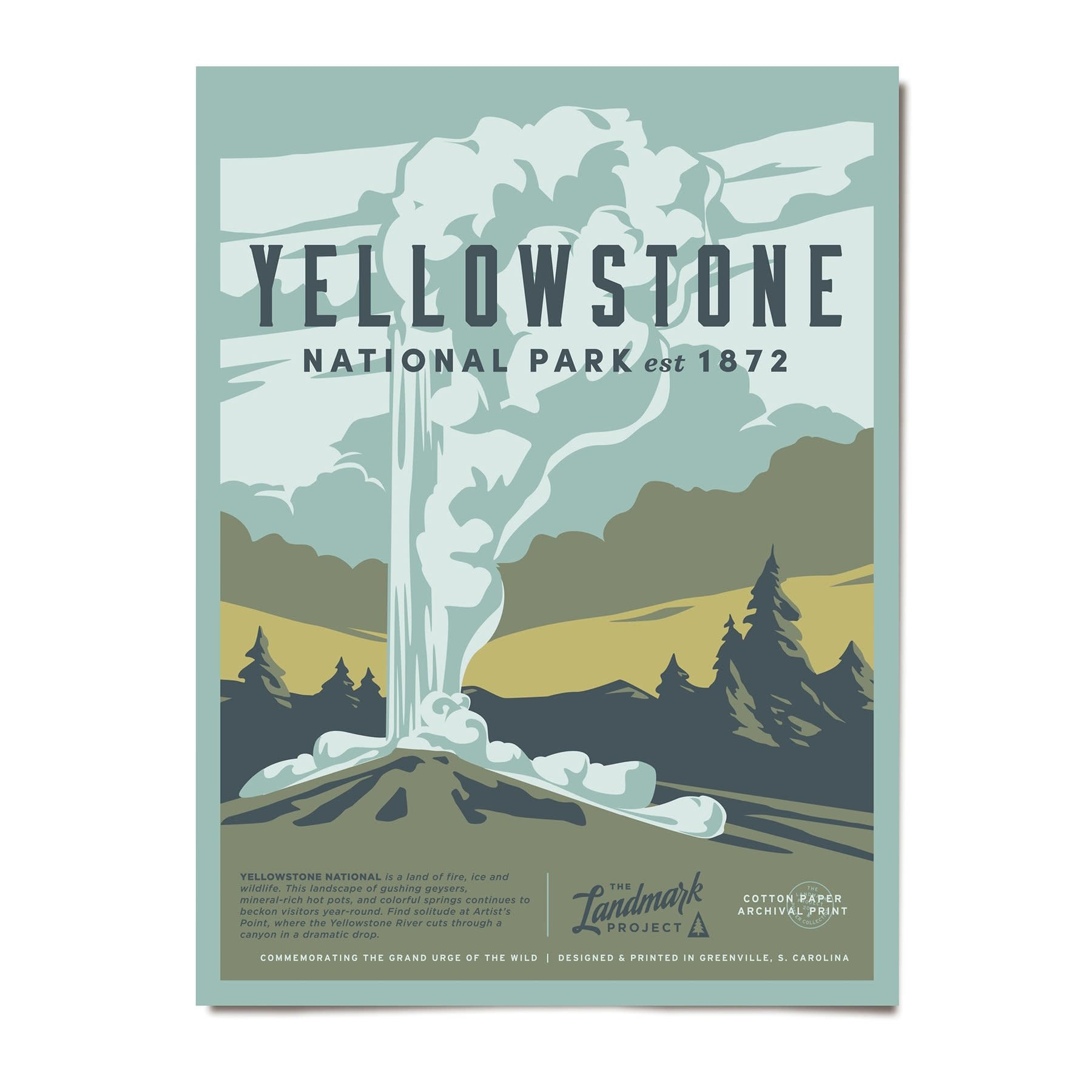 Yellowstone National Park Poster 12X16
