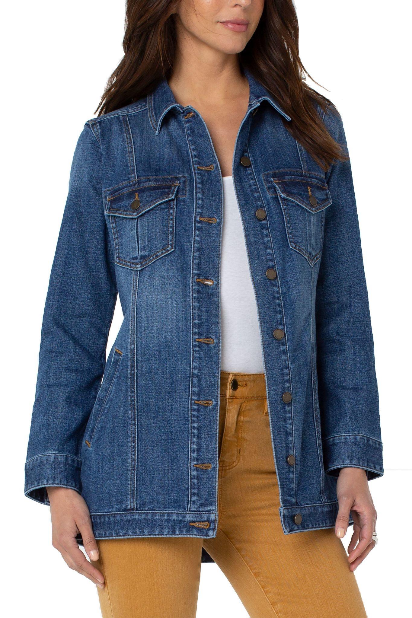 High-Low Shirt Jacket