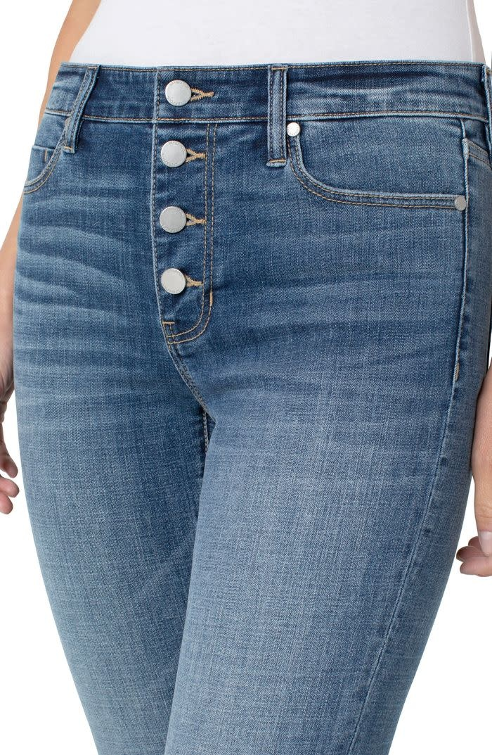 Abby Ankle Skinny Exposed Buttons