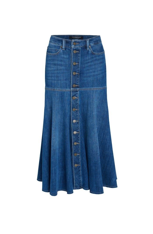 High Rise A-Line Skirt