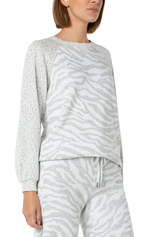 Crew Neck Raglan Pullover Sweatshirt