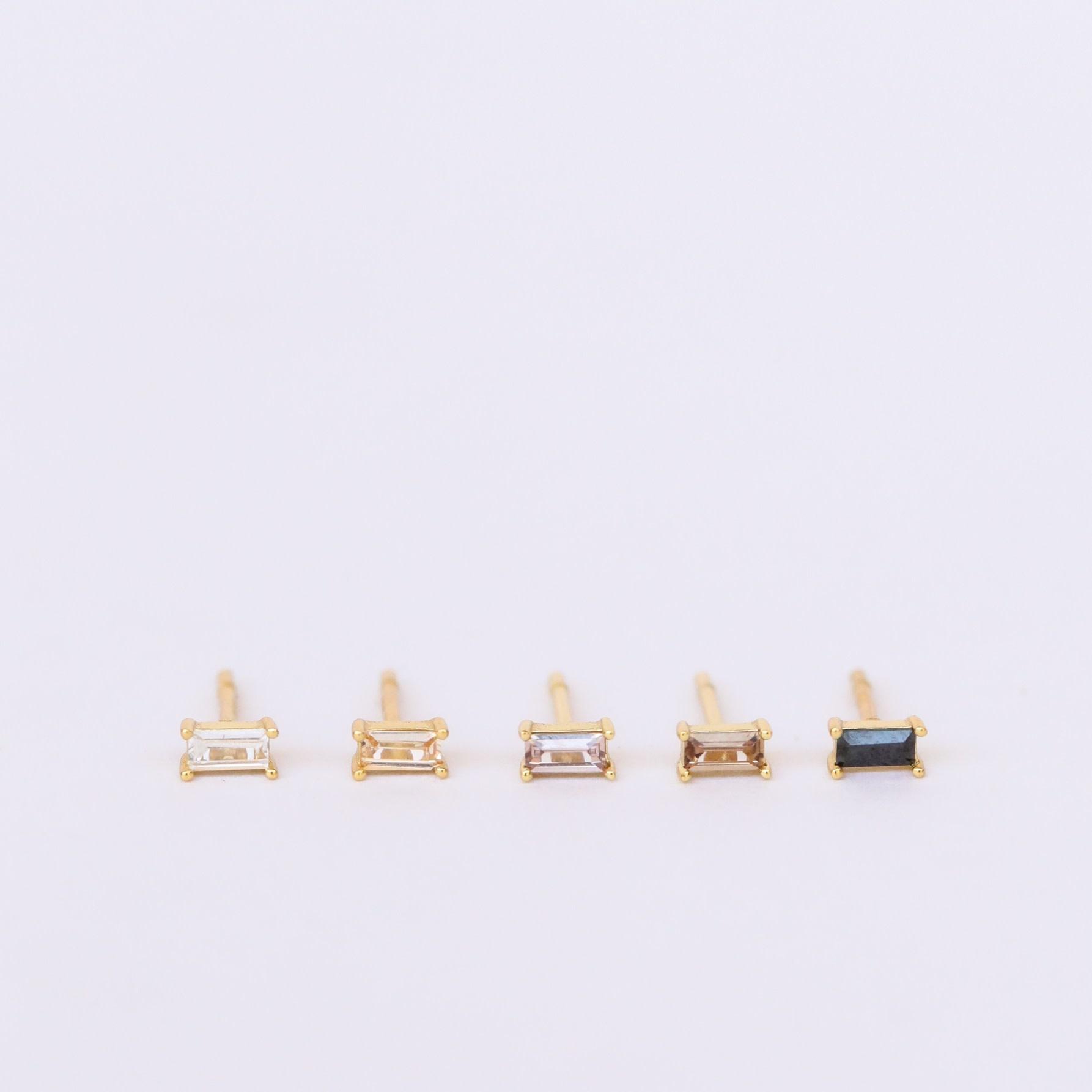 Ombre Baguette Earrings