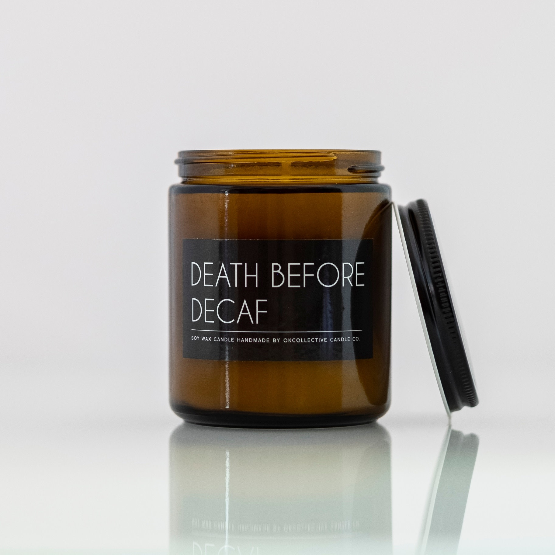 Death Before Decaf 8oz Candle