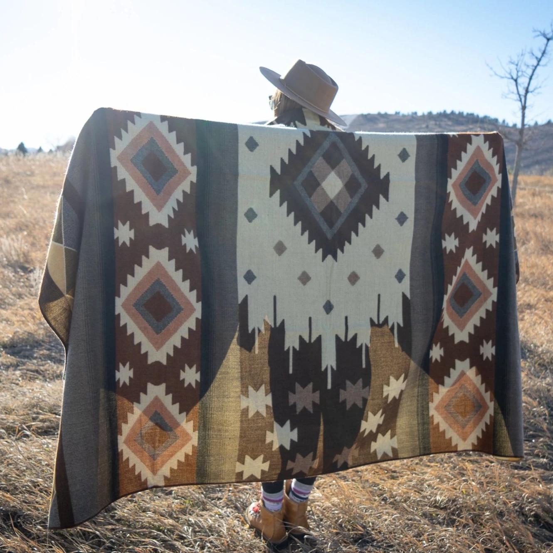 Andean Alpaca Blanket - Mojave-Brown