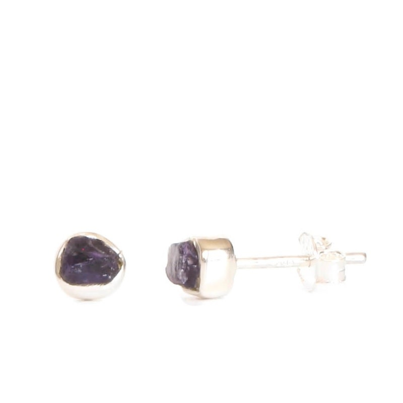 Rough Gemstone Studs