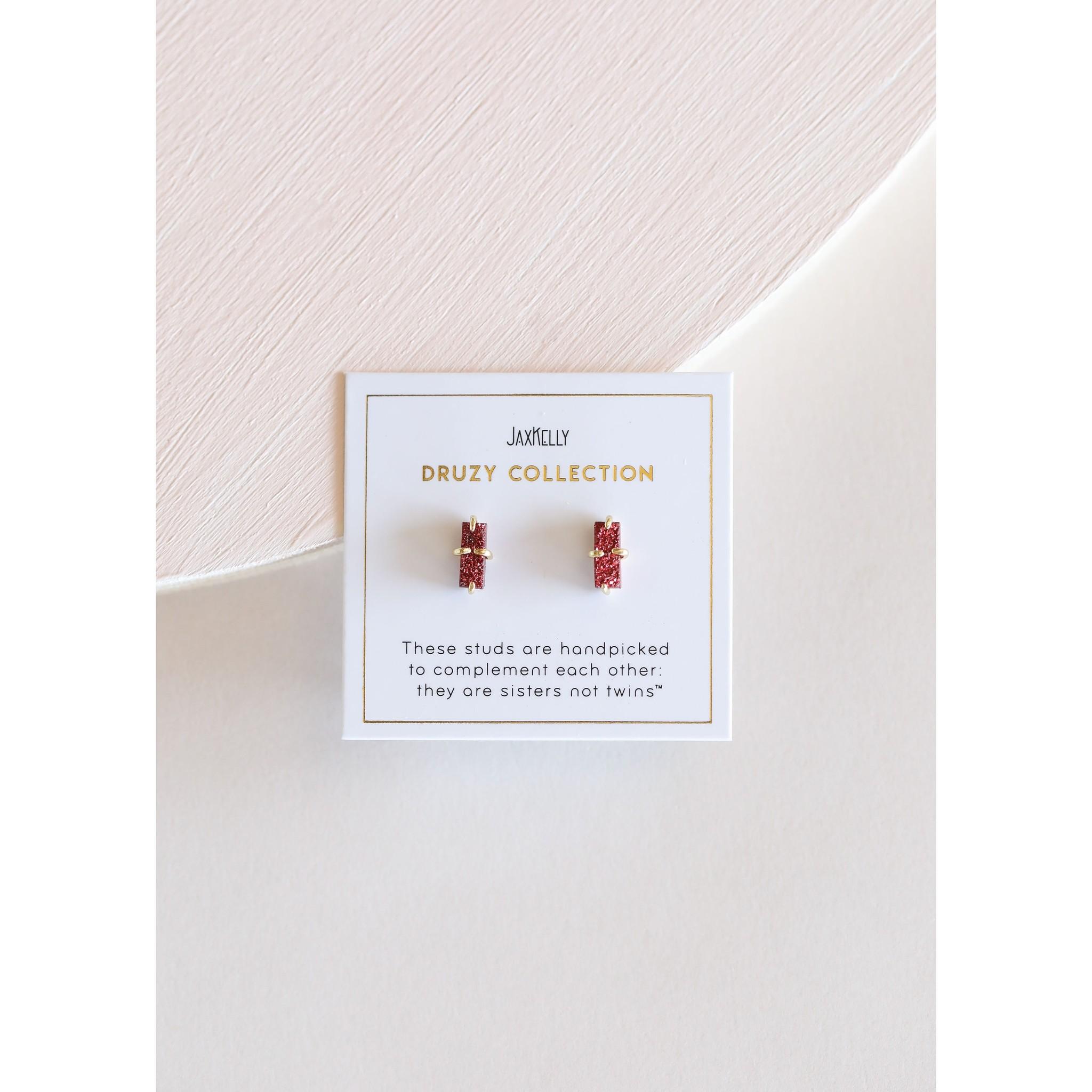 Bar Druzy Earring