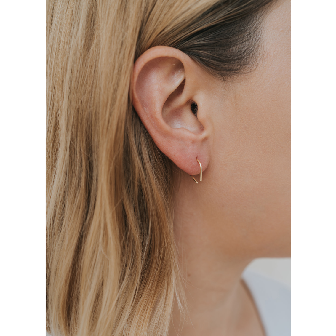 Minimalist Horseshoe Earring