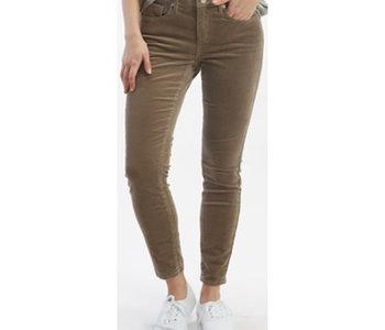 Mid-Rise Corduroy Skinny Pant