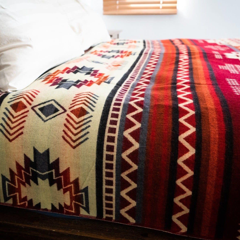 Andean Alpaca Blanket- Wildfire