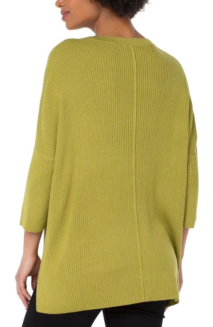 Crew Neck Fully Fashioned Sweater