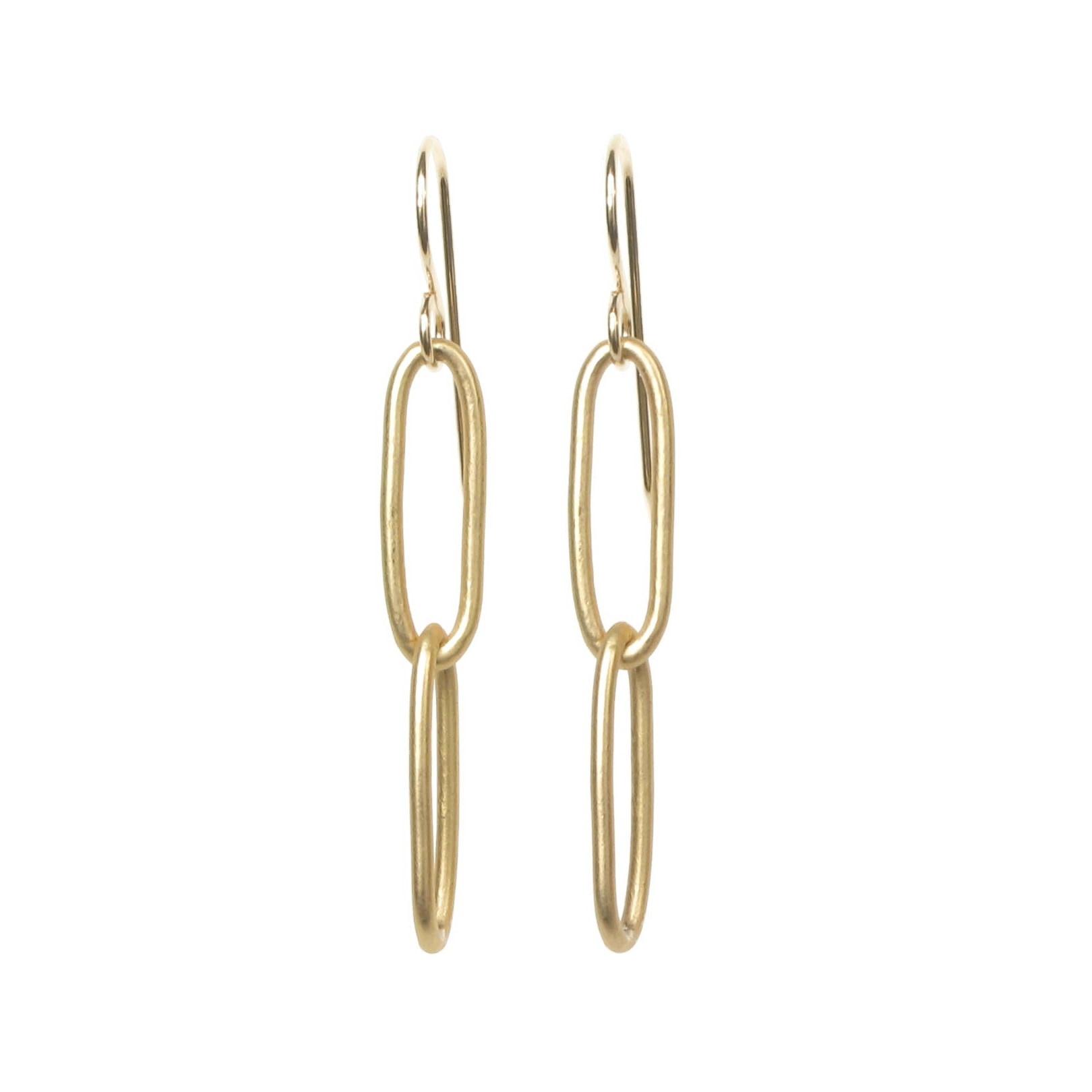 Paperclip Chain Earrings